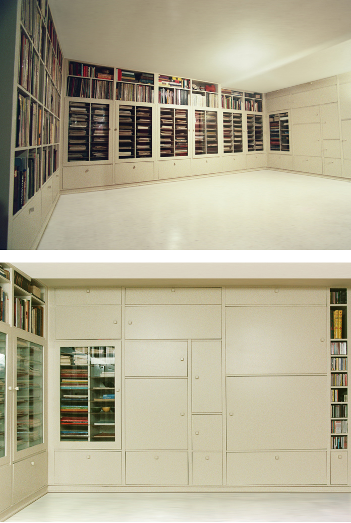 Music Library for a Violinist, Laura Foxman, We Are All Collage, Portland, Oregon, Interior View, Music Room